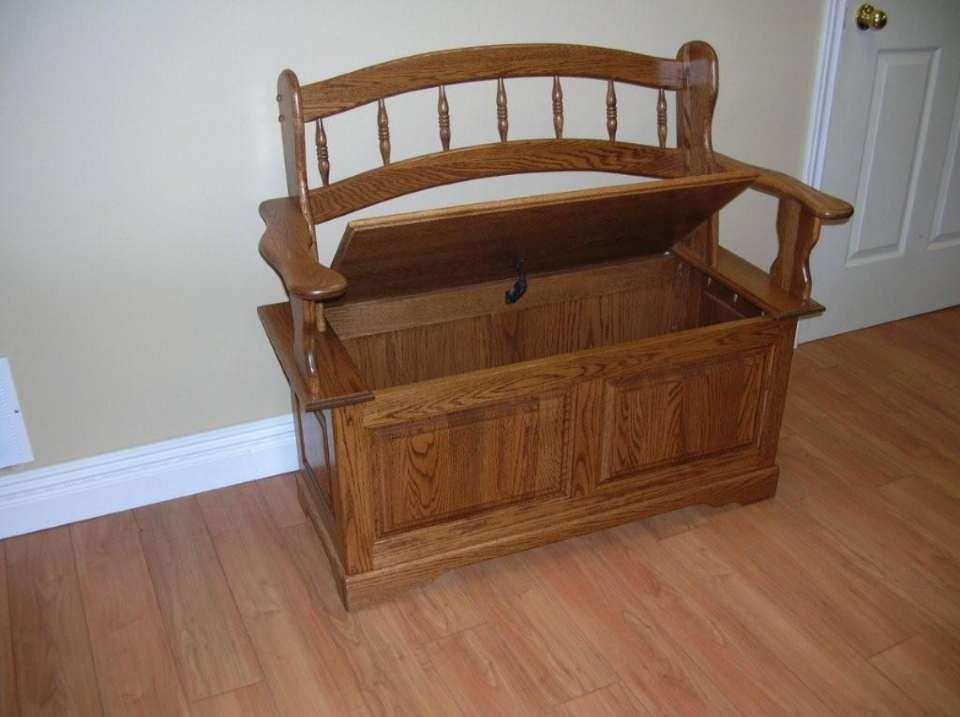 Solid Oak Deacon Bench