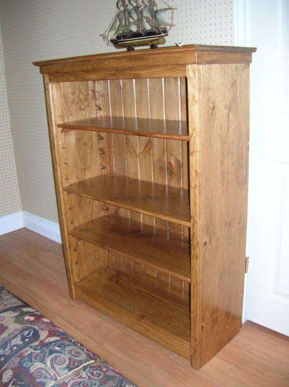 Rustic Pine Bookshelf Unit