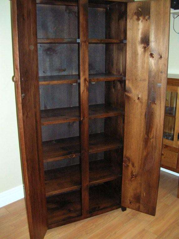 Pine Rough Sawn Double Door Jelly Cupboard