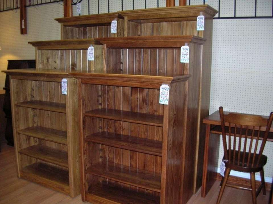 Rustic Pine Bookcase Units