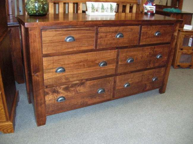 Rough Sawn Wormy Maple 7 Drawer Dresser