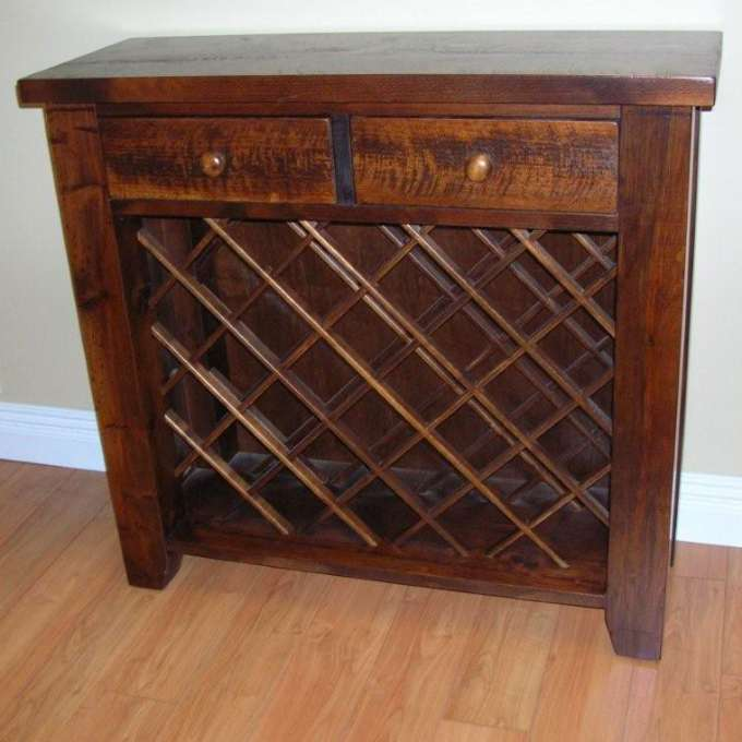 Pine Rough Sawn Wine Rack