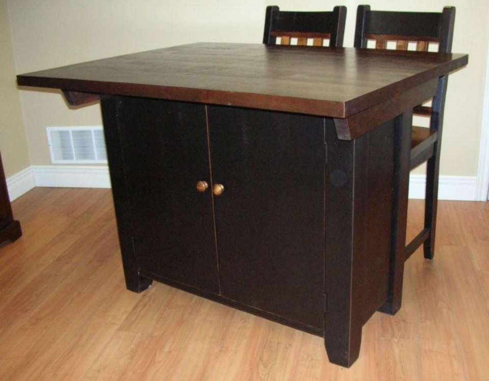 Rough Sawn Pine Kitchen Island