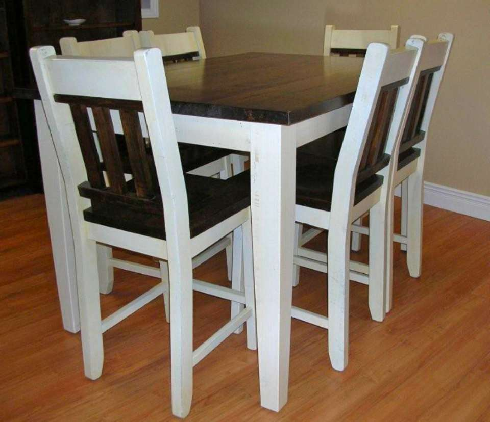 Wormy Maple 7 Piece Bistro Table Set
