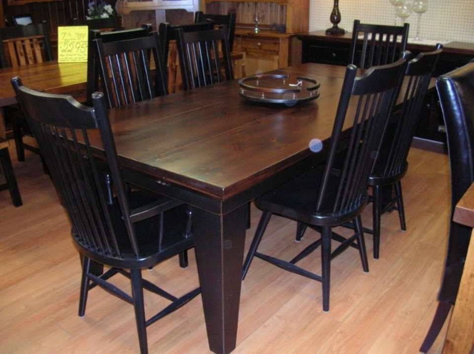 Rustic Pine 7 Pc Bevelled Top Dining Set