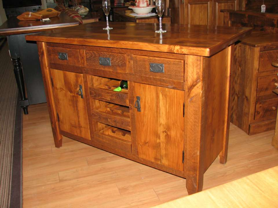 Pine Rustic Kitchen Island