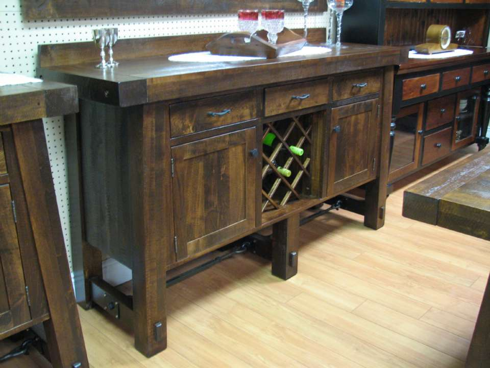 Yukon Turnbuckle 70 inch Sideboard with Wine Rack