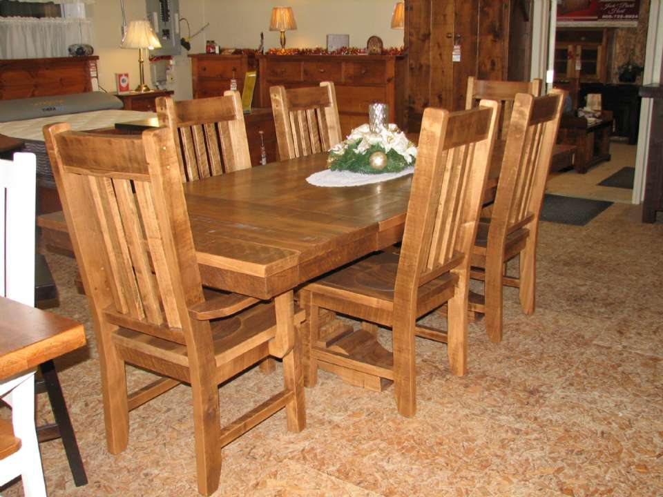 Maple Century Double Pedestal Table Set